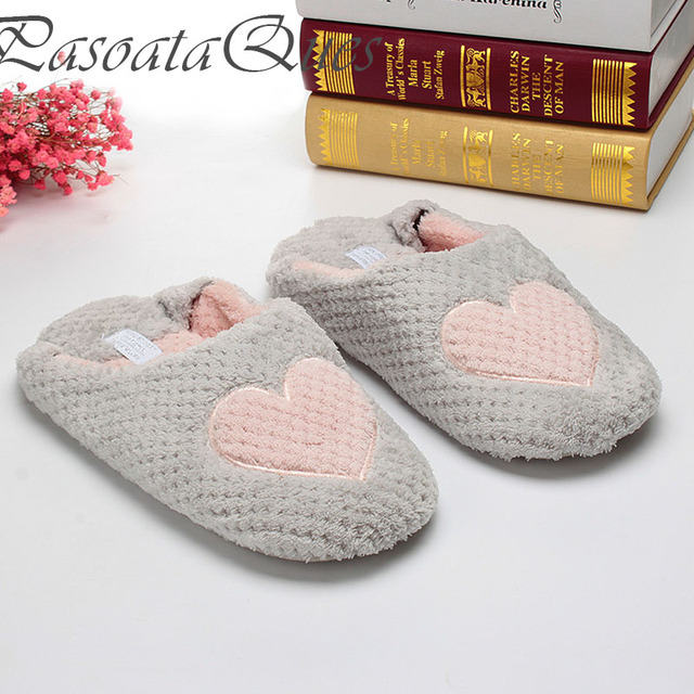 9f1794b9f62f Women Home Slippers Warm Winter Cute Indoor House Shoes Bedroom Room For  Guests Adults Girls Ladies Pink Soft Bottom Flats