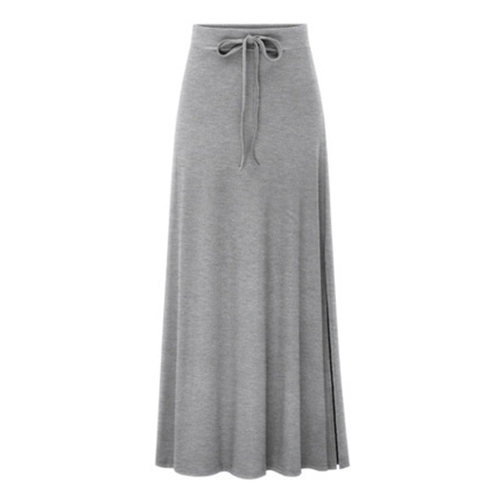 Women Casual High Elastic Waist Slimming Lady Tight Long Slim Push Up Solid Skirt Autumn Skirts Female #GEX