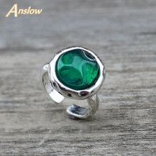 Anslow Fashion Statement Jewelry Trendy Vintage Retro Round Women Rings For Female Handmade Finger Ring Accessories LOW0016AR