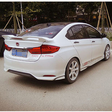 For Honda City Spoiler GT Style 2015 2016 2017 Car Tail Wing Decoration ABS Plastic Unpainted Primer Rear Trunk Spoiler