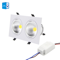 DBF Super Bright Recessed LED Dimmable 2 Head Square Downlight COB 10W 14W 18W 24w