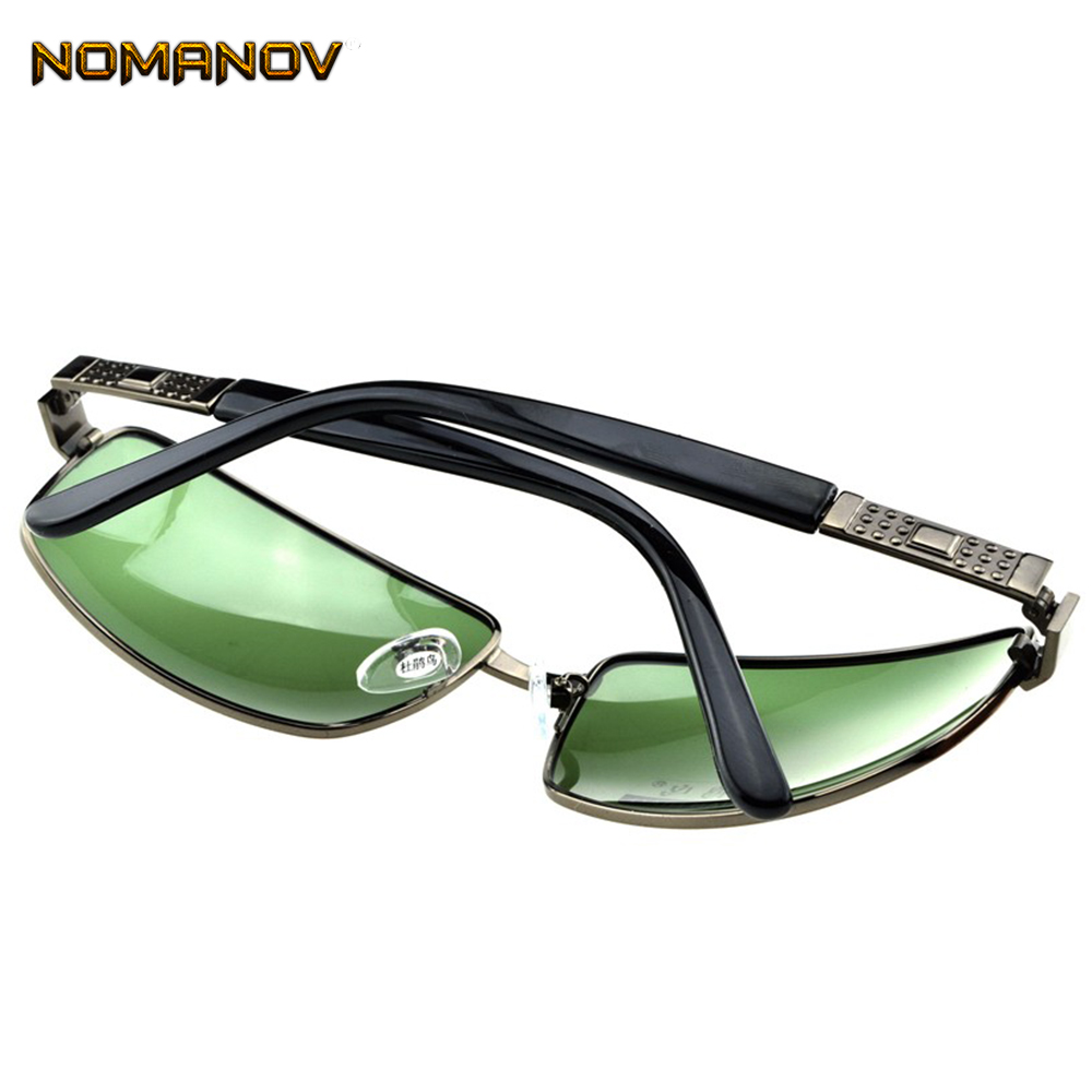 = SCOBER = Large Rectangular Gunmetal Classic Vintage Retro myopia Polarized sunglasses -1 -1.25 -1.5 -1.75 -2 -2.25 to -6