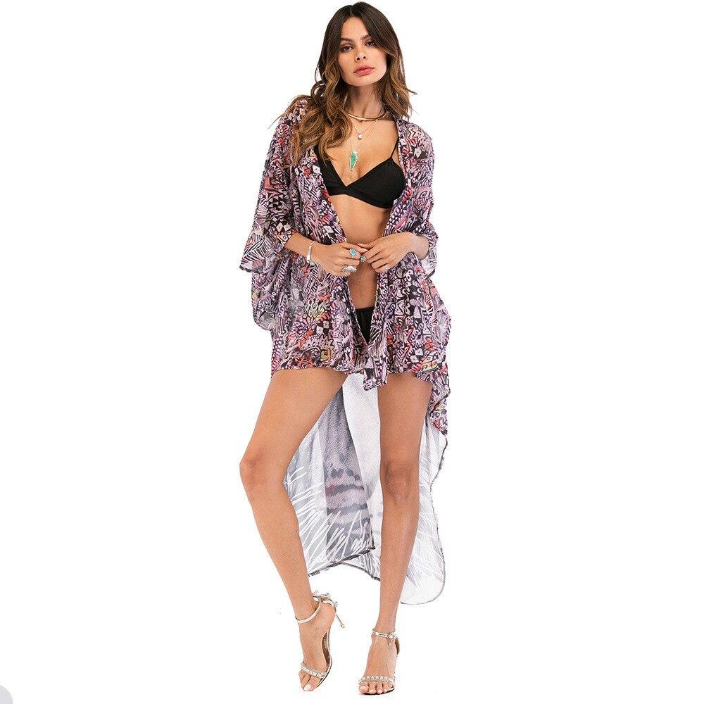 Mujeres Casual Mujer Verano Y Gasa Ropa De Las Cardigan Moda Sexy Rojo Niñas Tops Sosaeg Blusas Productos Tigre Playa Europea Z75Zwdq