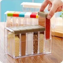 1 шт. прозрачный набор специй соль и перечница красочная крышка кухонные специи Cruet контейнер для хранения