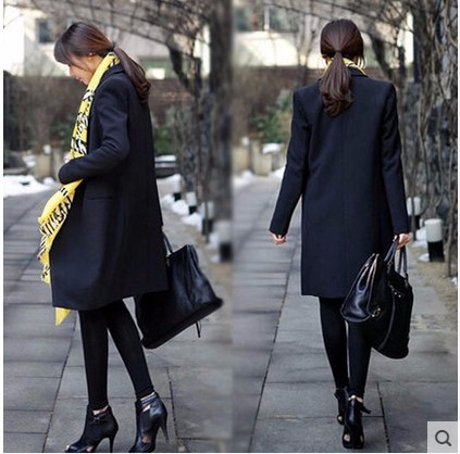 2016-Autumn-new-Women-long-coat-black-Small-suit-loose-blazer-slim-jacket-women-s-Blazers (2)