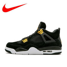 pretty nice 6d10a aec10 Original New Arrival Authentic Nike Air Jordan 4 Royalty AJ4 Breathable  Men s Basketball Shoes Sports Sneakers 308497-032