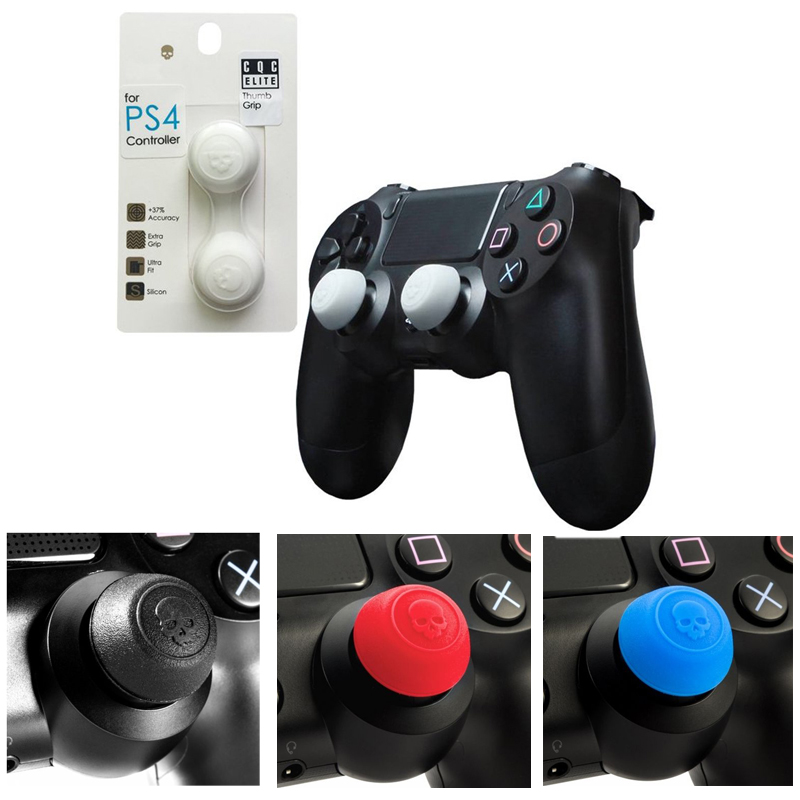 Silicone Analog Grips Thumb Stick Caps Cover For Sony Playstation 4 Controller Skull & Co. CQC Elite Thumbstick For PS4 Gamepad цена