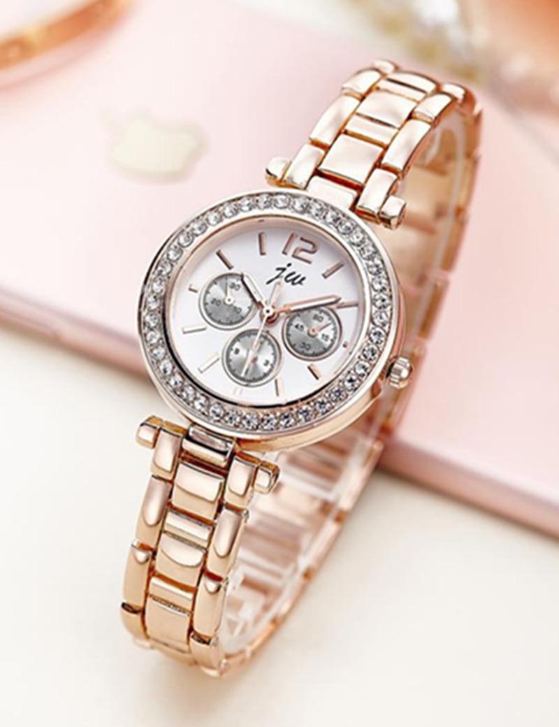 Златни сатови Женска луксузна марка 2016 познати кварцни ручни сатови за жене наруквица од нехрђајућег челика модни цасуал сатови АЦ154