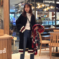 2016 winter women sweaters fashion o neck long sleeve patchwork knitted long cardigans casual outwears