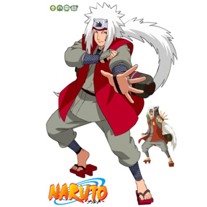 9060cm Naruto Anime Sticker 3D Visual Effect Wallpaper Sasuke Hatake Kakashi Jiraiya Itachi Mode Stickers ST10 In From Toys Hobbies On