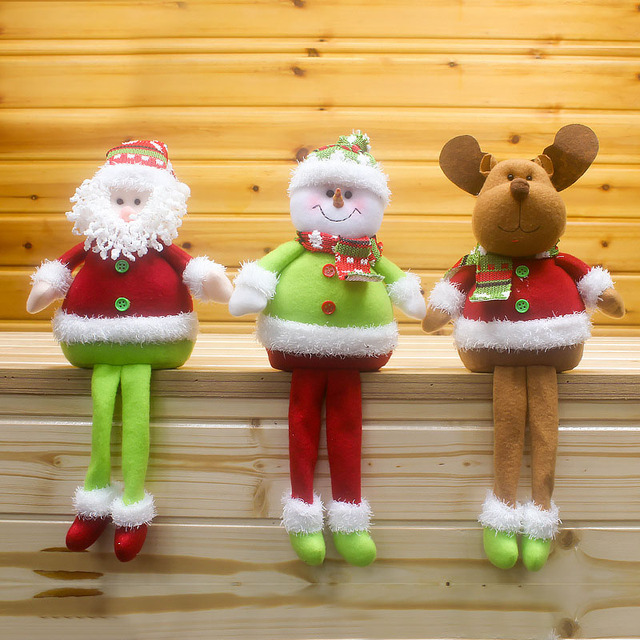 2019 New Year Gifts Santa Cluaus Snowman Elk Doll Sitting Figurine Toy Christmas Tree Decoration for Home Pere Noel SD161