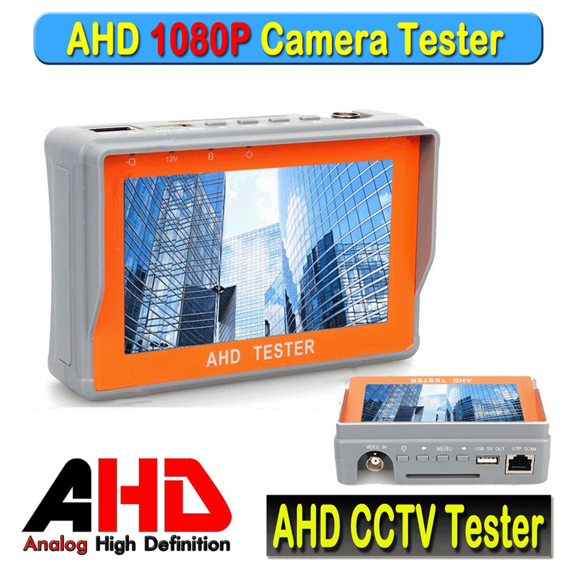 все цены на Portable 1080P AHD CCTV Tester 4.3 Inch AHD 2.0 Camera Testing UTP Network Cable Test NTSC/PAL CCTV HD Tester Monitor 12V Output онлайн