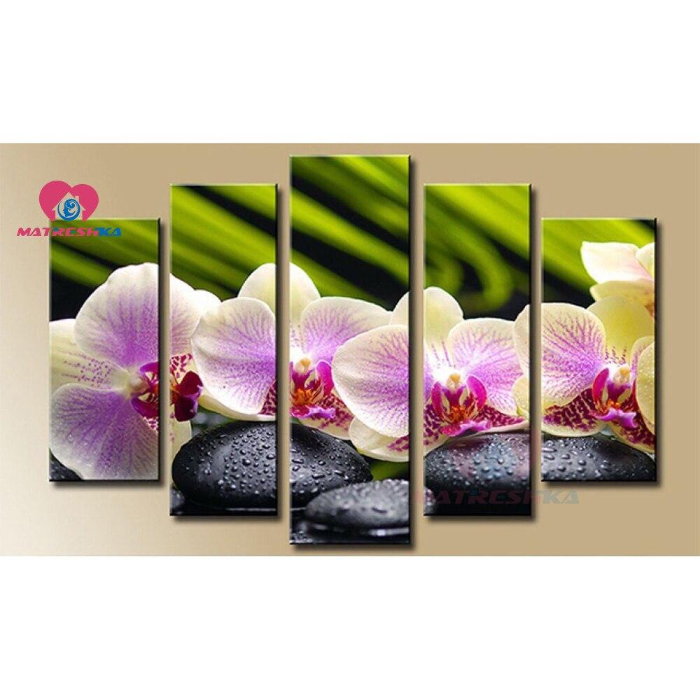 Diamant photo triptyque diamant peinture fleurs diamant broderie vente photos de strass diamant mosaïque décoration de la maison