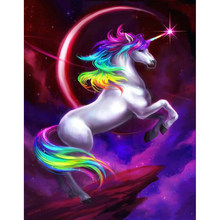 unicorn dream horse Animal Child DIY Digital Painting By Numbers Modern Wall Art Canvas Painting Unique Gift Home Decor 40x50cm(China)