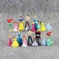 Cifras princesa sirena Ariel blancanieves Bella Cinderella Rapunzel Jasmine PVC Figura Juguetes
