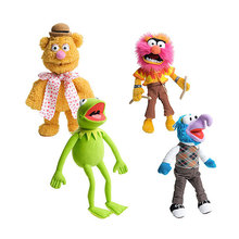 38cm Big Cute Muppets Show Kermit Frog Gonzo Fozzie Bear Animal Drummer Soft Stuffed Plush Toy Doll Children Birthday Gift free shipping 45cm cartoon the muppets kermit frog plush toys soft boy doll for children birthday gift