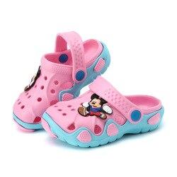 Новинка 2017 года; модная детская садовая обувь; Детские Мультяшные сандалии; летние тапочки для малышей; детские сандалии высокого качества ...