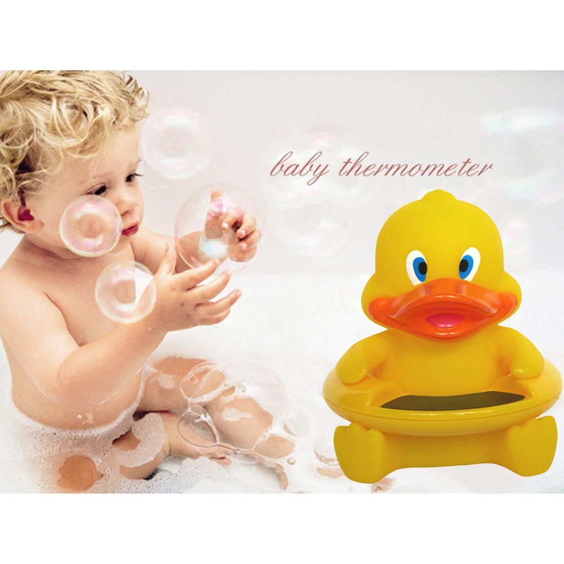 2 In 1 Cartoon Baby Niedliche Ente Form Thermometer Baby Säuglings Badewanne Wasser Temperatur Tester Toy