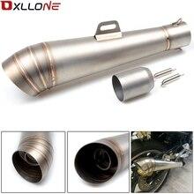 Tubo de escape Universal para motocicleta YAMAHA XJR400, XJR1200, XJR1300, XJ600, XJ6, adaptador para todo el año, compatible con tubería de 36MM 51MM
