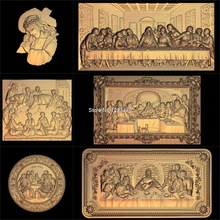 6pcs Jesus_Lords Supper 3d model STL relief for cnc STL format Lords Supper 3d Relief Model STL Router 3 axis Engraver ArtCam new 3d models in stl relief for cnc stl tablet desk food short food 32