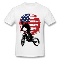 Printed Men T-Shirt Short Sleeve Funny Tee Shirts Boy American USA Flag.Motorcycle Motor Fashion Summer T Shirt 100% Cotton