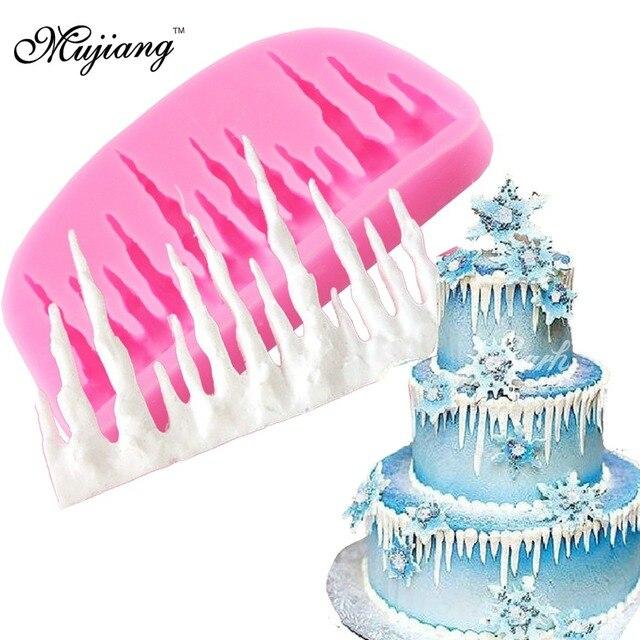 Icicles Cake Decoration Silicone Mold Icicle Border Sugarcraft Frozen Fondant Cake Fondant Cake Decorating Tools