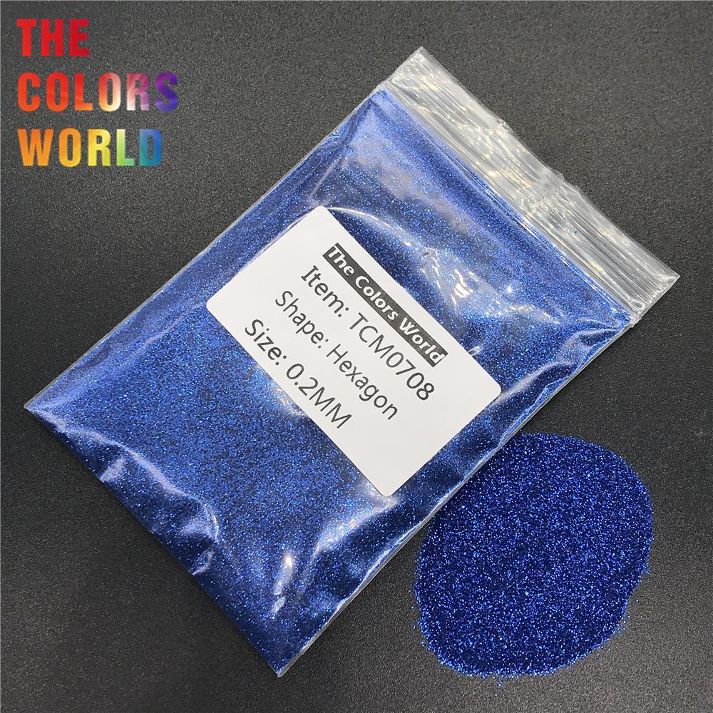 TCM0708 сапфировый синий цвет металлик блеск Шестигранная форма блеск для ногтей художественное украшение facegbeller хна тату ручной работы DIY