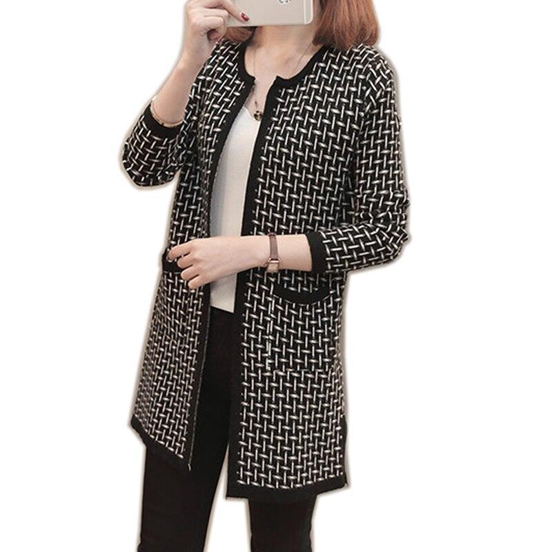 2019 womens' autumn new cardigan long sweater sweater women Cuff design Cardigan design Female Tops