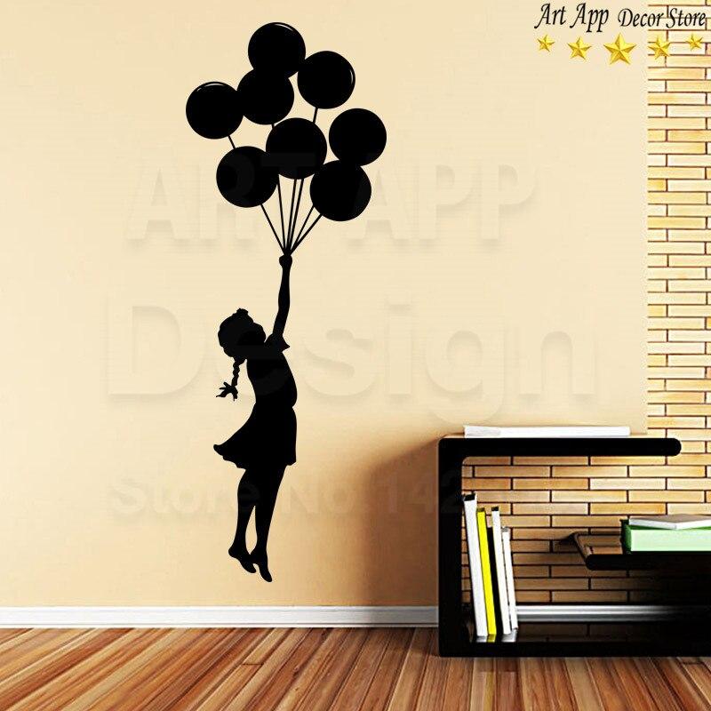 Banksy Graffiti /'Balloon Girl/' amazing wall stickers vinyl decal highest quality