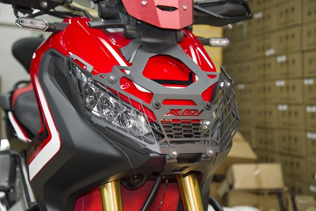 For Honda ADV 750 X-ADV XADV750 Motorcycle Front Headlight Head Lamp Light Grille Guard Cover Mesh Guard Protector 2017 2018