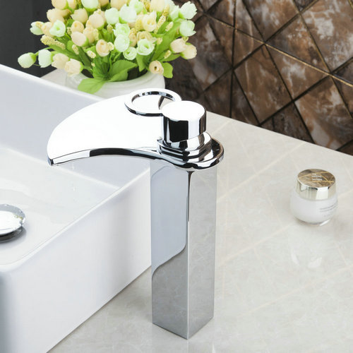 Monite Torneira New Cold/Hot Water Waterfall Chrome Bathroom Soild Brass Deck Mount 2248 Wash Basin Sink Grifos Tap Mixer Faucet new bathroom wash basin sink faucet waterfall flow lavatory hot cold washing tap tree629