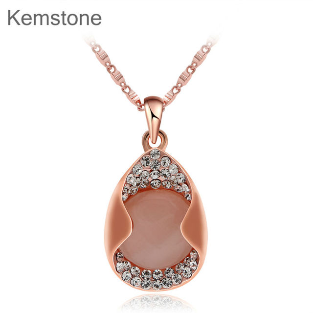 Kemstone Retro Rose Gold Color Necklace for Women Geometry Vintage Necklaces & Pendants Jewelry,15
