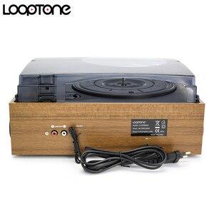 Image 3 - LoopTone 3 מהירות Bluetooth פטיפון ויניל שיא נגן מובנה רמקולים גרמופון AM/FM רדיו קלטת LP USB/ SD מקליט