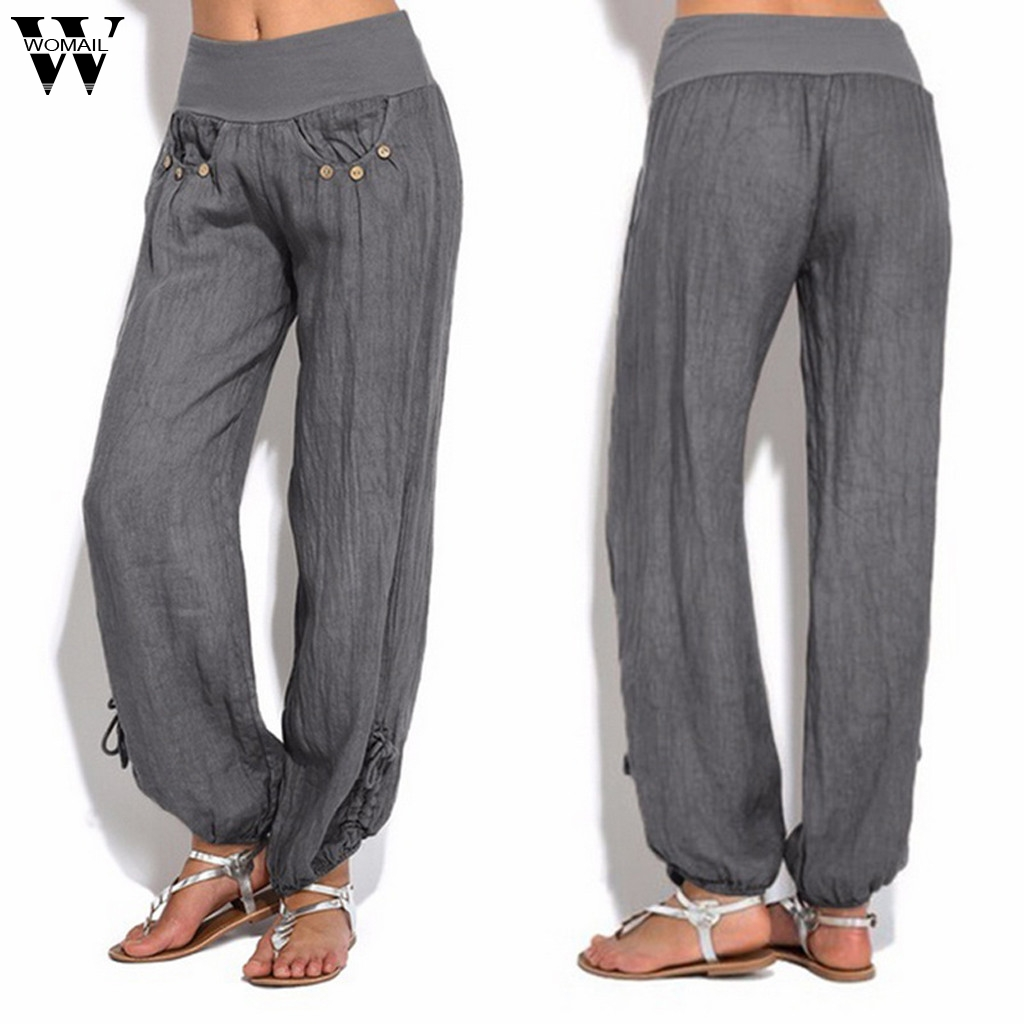 Womail   Pants   Women's Female Loose Trouser Casual High Waist   Pants     Wide     Leg     Pants   Fashion high quality NEW 2019 M53