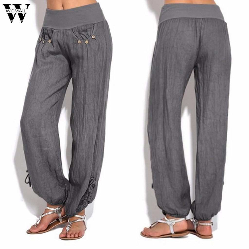 Womail   Pants   Women's Female Loose Trouser Casual High Waist   Pants     Wide     Leg     Pants   Fashion high quality NEW 2019 M53