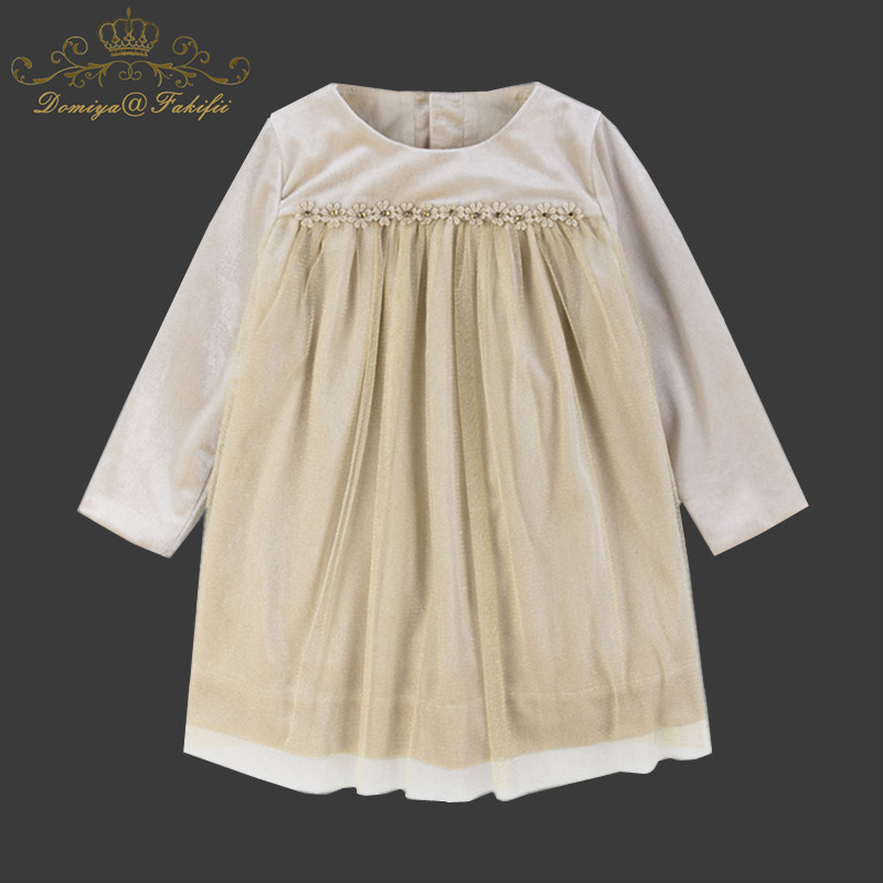 2018 Spring Brand Costume Clothing Children Girls Princess Wedding Party Christmas Dresses For Baby Girls Clothing Kids Clothes new year flowers flower dresses for wedding party baby girls christmas party princess clothing children summer dresses