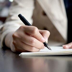 Image 5 - Youpin KACO роскошная черная перьевая ручка Набор 0,5 мм F Перо стальные чернильные ручки для простого делового подарка высокое качество