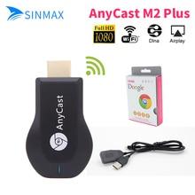 Anycast M2 plus Ezcast Miracast Google Chromecast dongle HDMI 2 1080 p TV Bâton WIFI Affichage Récepteur Dongle Andriod smart bâton