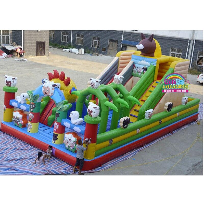 Prix bon marché château gonflable adulte rebondissant sautant Trampoline amusant ville videur gonflable pour les enfants