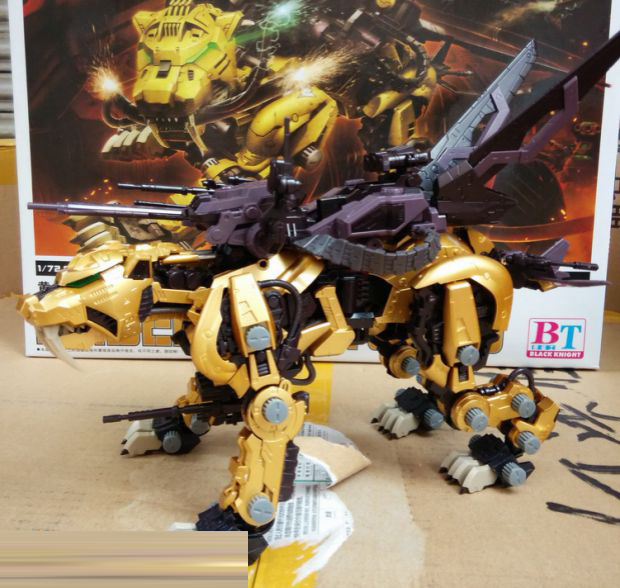 2019 New BT 1/72 ZOIDS Saber Tiger Gold Gundam Assembled Model Kits Anime Action Figure Toys Assembly Gift With Original Box