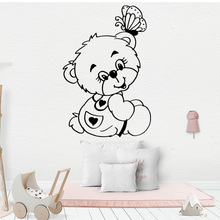 Lovely lovely bear Wall Mural Removable Decal For Kids Room Decoration Stickers Bedroom Waterproof Baby Wallpaper