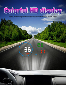 Image 4 - Автомобильный дисплей WiiYii M9 HUD, проектор на лобовое стекло 5,5 дюйма, OBD2, дисплей данных о вождении автомобиля, скорость об/мин, расход топлива, сигнализация безопасности