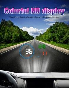 Image 4 - WiiYii M9 wyświetlacz samochodowy HUD 5.5 Cal wyświetlacz parametrów wozu na szybie OBD2 wyświetlacz danych jazdy samochodem prędkość RPM zużycie paliwa Alarm bezpieczeństwa