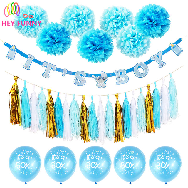 Hey funny 1set its a boy girl banner party baptism decorations hey funny 1set its a boy girl banner party baptism decorations bunting favors supplies blue pink sciox Image collections