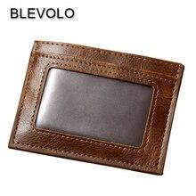 BLEVOLO дизайнерский винтажный тонкий кошелек женский автобус пикап посылка мужские кожаные сумки для кредитных карт мини-держатели для фото карт Ретро кошелек