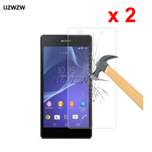 2pcs For Sony Xperia Z2 0.26mm 2.5D Premium Tempered Glass Protective Glass Film Screen Protector For Sony Xperia Z2 Glass nillkin tempered glass back cover protector film for sony xperia z2 l50 h