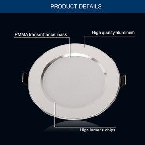 Image 2 - 10 adet Led Downlight 220V 240V 3W 5W 7W 9W 12W 15W LED tavan yuvarlak gömme lamba LED Spot ışık banyo mutfak için