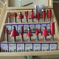 15 Pcs 1 2 12 7mm Shank Tungsten Carbide Router Bit Set Wood Woodworking Cutter