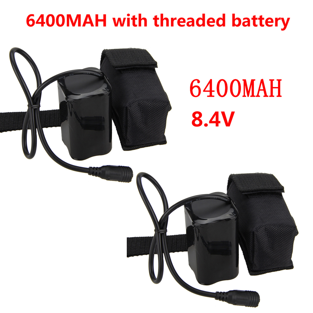 Bicycle Light Power 4x18650 6400mAh Rechargeable 18650 Li-ion Battery Pack For Bike Bicycle XML T6 Light Battery free customs taxes factory super power rechargeable 36 volt power supply 36v 20ah li ion battery pack