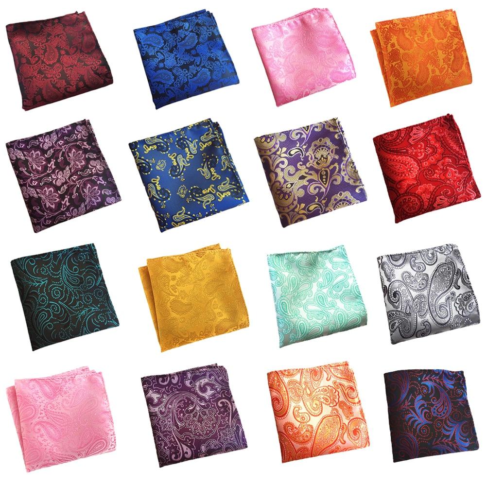 Mens Colorful Paisley Pattern Pocket Square Gentlemen Wedding Handkerchief  BWTHZ0326